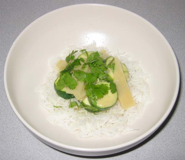 Thai Green Curry Over Rice