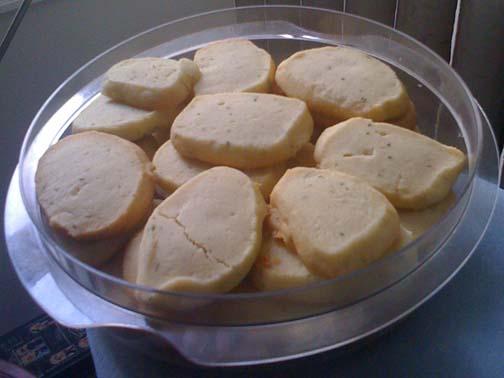 Sage Shortbread Cookies