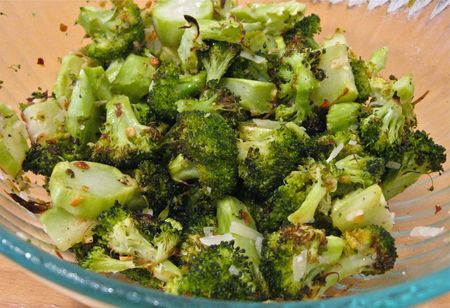 Roasted Broccoli Served