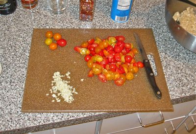 Fresh Tomato Pasta Cutting Board
