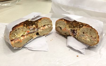 Black Seed Bagel Everything Bagel with Red Onions