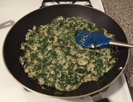 Saag Paneer Spinach Cooking