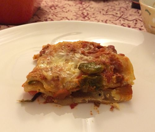 Roasted Veg Lasagna Served