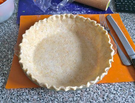Maple Buttermilk Pie 2 Dough Pricked