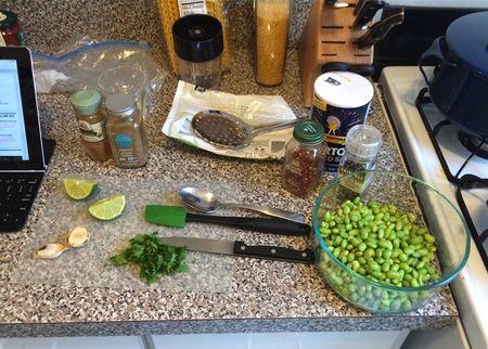 Spicy Edamame Dip Ingredients