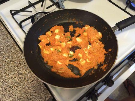 Paneer Makhani Cooked in Pan