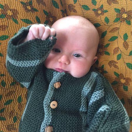 Felix Waving in Sweater