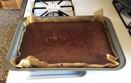 Pati Chocolate Cake Baked in Pan