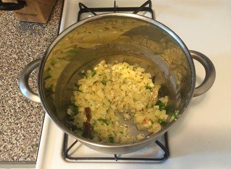 Dal Makhani v2 Onions Cooking