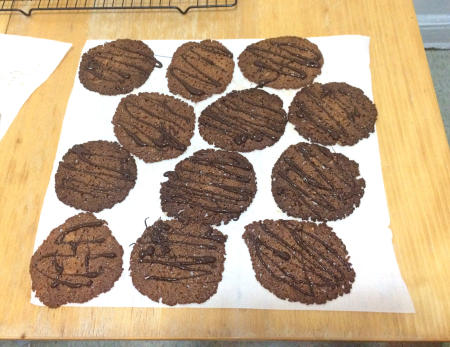Florentine Lace Cookies - With Chocolate