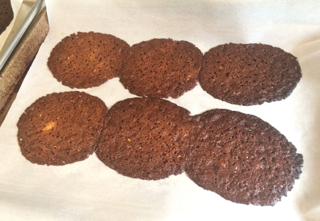 Florentice Lace Cookies - Baked