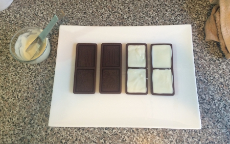 Double Chocolate Cookies - White Chocolate in Molds