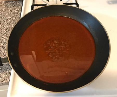 Gravy Enchiladas - Cooked Down Sauce