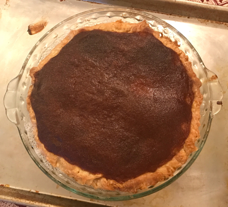 Salty Honey Pie - Out of Oven