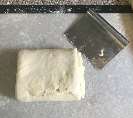 Flaky Buttermilk Biscuits - Folded Dough 2nd Time