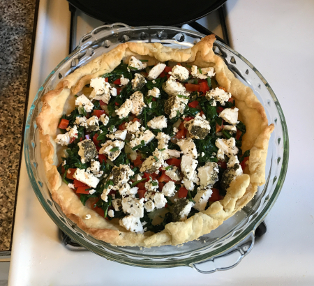 Quiche with Fillings and Goat Cheese