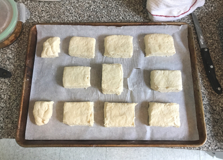 Ultra Flaky Biscuits - Dough Cut