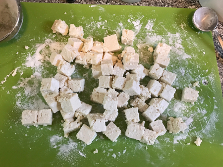 Pan Fried Tofu with Cornstarch Rubbed In