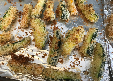 KAF Zucchini Sticks - Close Up Baked
