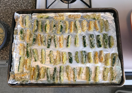 KAF Zucchini Sticks - Ready for Oven