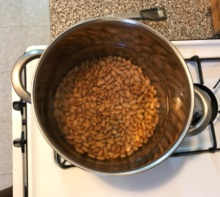 Drunken Beans - Beans Soaking