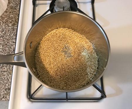 Herbed Quinoa - Toasting