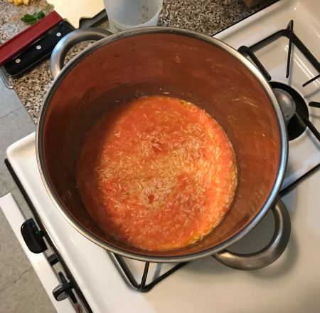 Pati Jinich - Mexican Rice Tomato Sauce Cooking