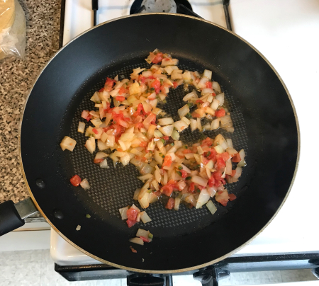 Bayless Queso - Vegetables Cooking