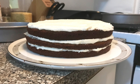 Gingerbread Layer Cake - Three Layers Frosted