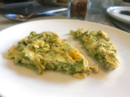 Broccoli Frittata - Close Up