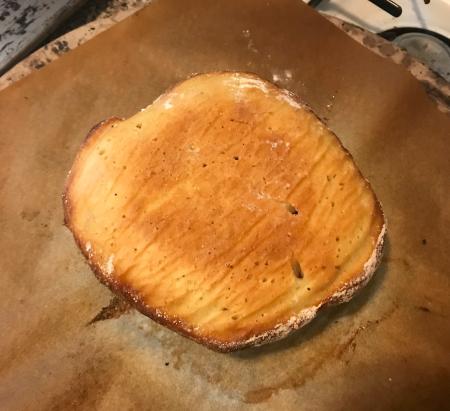 NYTimes Crusty Bread - Bread #1 Baked Bottom