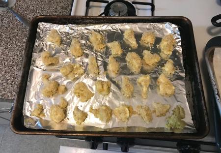 Baked Cauliflower Pakoras - Ready for Baking