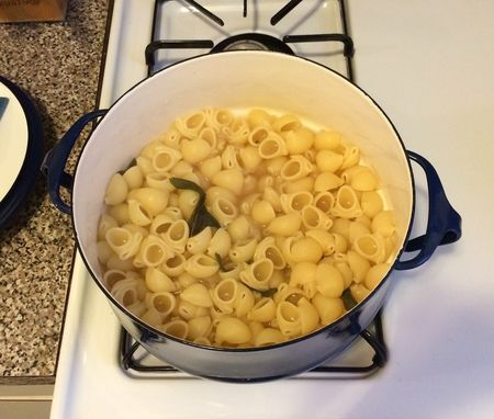 Sage Pasta in Pot