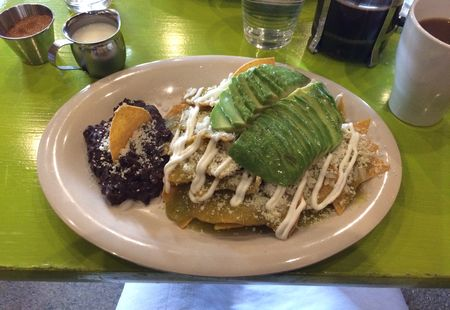 Chela and Garnacha Chilaquiles