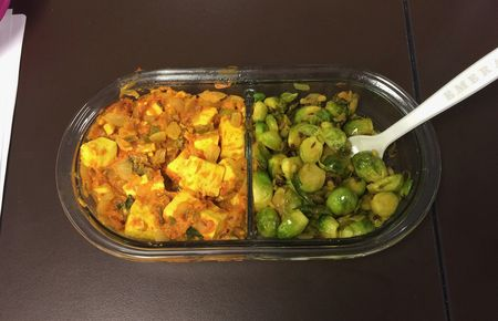Brussels Sprouts Curry for Lunch