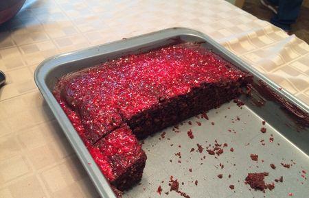 Pati Chocolate Cake Served