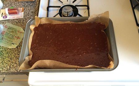 Pati Chocolate Cake Batter in Pan