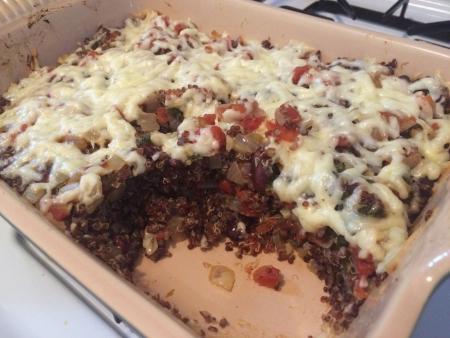 Quinoa Bake in Casserole Dish