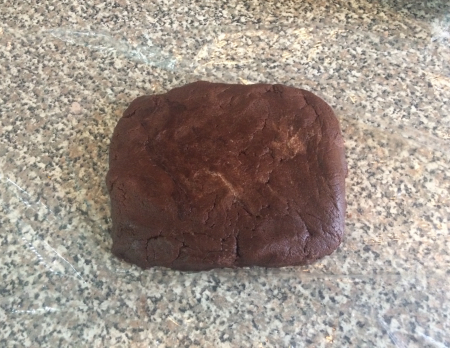 Double Chocolate Cookies - Dough Formed