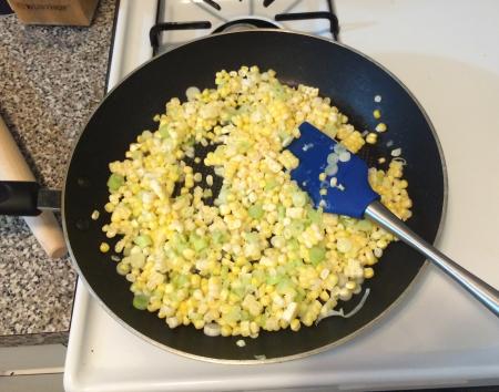 Corn Pasta - Sauteeing Corn