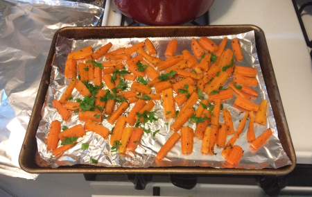 Roasted Carrots with Herbs Baked