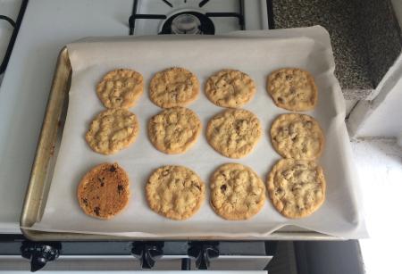 KAF Oatmeal Chocolate Chip Cookies Baked