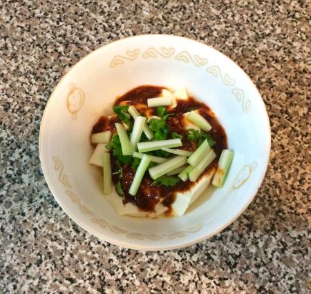 Sichuan Tofu - Served