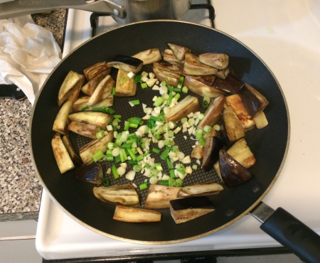Sichuan Eggplant - Braised with Scallions