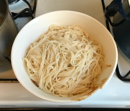 Fuchsia Dunlop Dan Dan Plain Noodles cooked