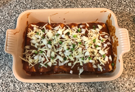Gravy Enchiladas - pre-baking