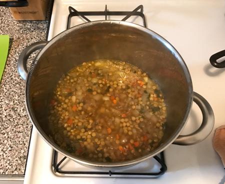 Lentil Soup Gremolata - Soup Cooking