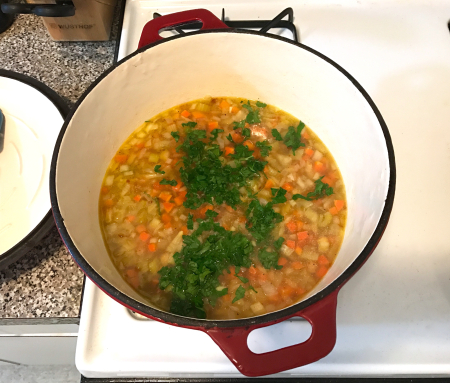 Chickpea Soup - Cooking on Stovetop