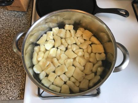 Ricotta Gnocchi - Boiling