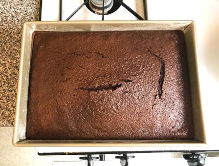 KAF Moist Chocolate Cake Baked
